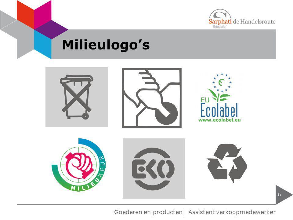 Goederen en producten   Assistent verkoopmedewerker Milieulogo's 6