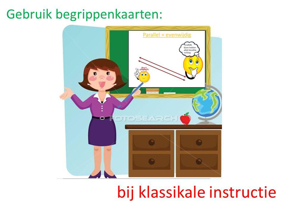 Gebruik begrippenkaarten: bij klassikale instructie