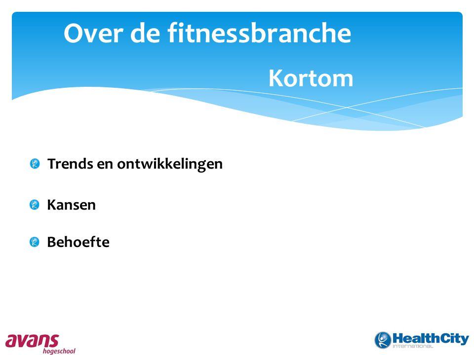Over de fitnessbranche Kortom Trends en ontwikkelingen Kansen Behoefte