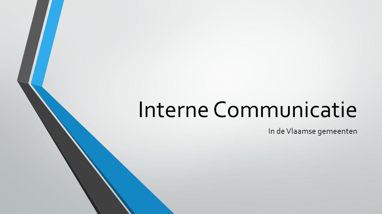 Interne Communicatie In de Vlaamse gemeenten