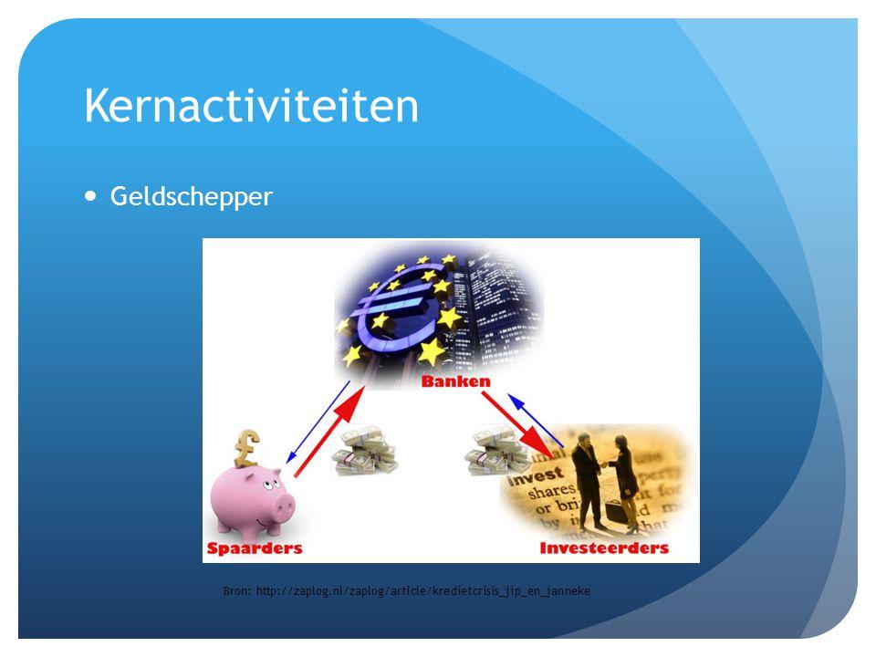 Kernactiviteiten Geldschepper Bron: http://zaplog.nl/zaplog/article/kredietcrisis_jip_en_janneke