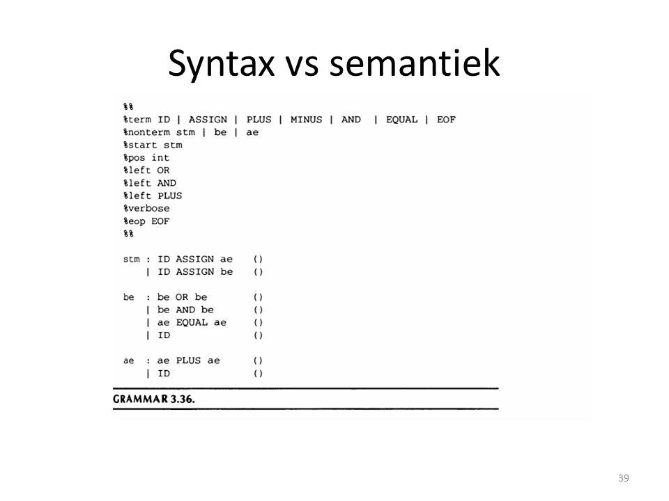 Syntax vs semantiek 39