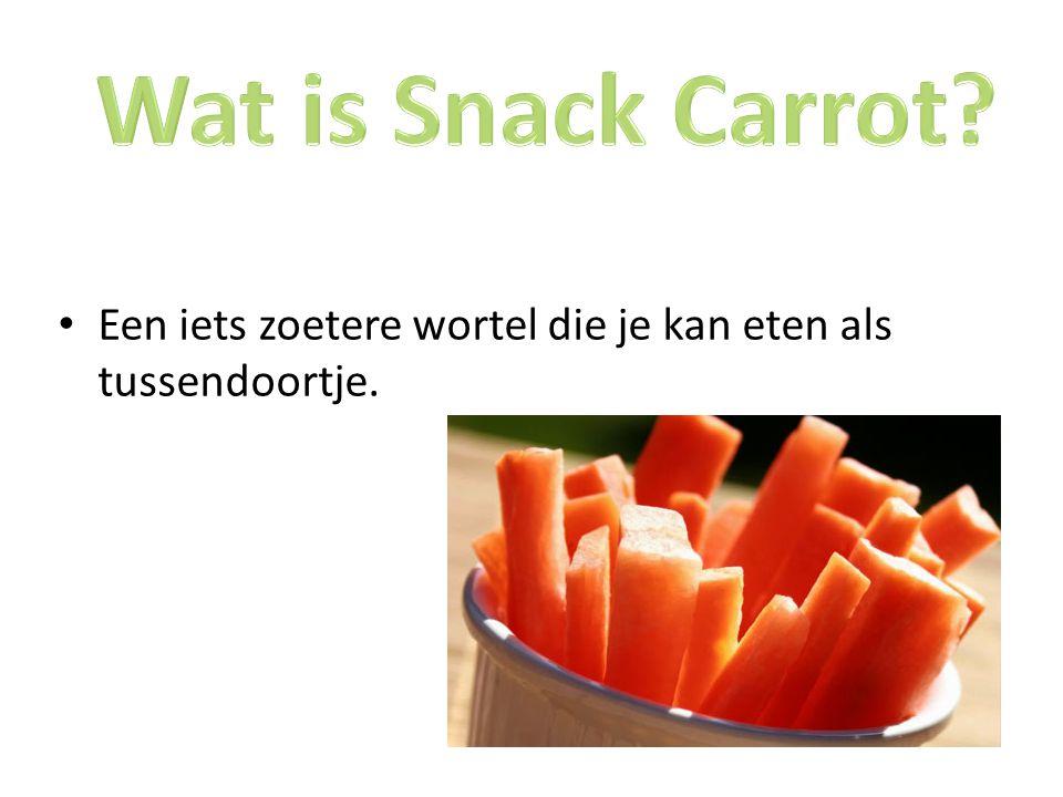 Een iets zoetere wortel die je kan eten als tussendoortje.