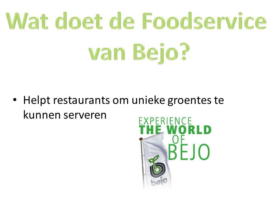Helpt restaurants om unieke groentes te kunnen serveren
