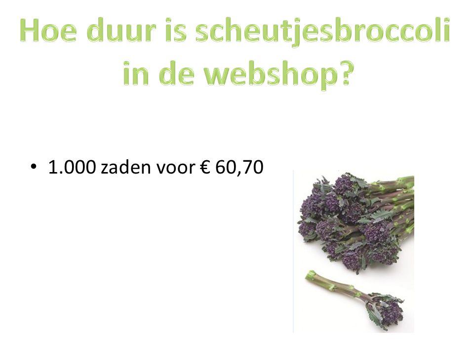1.000 zaden voor € 60,70