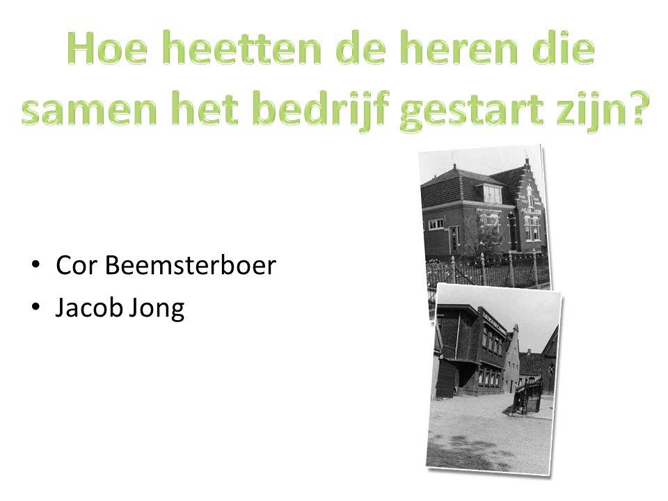 Cor Beemsterboer Jacob Jong