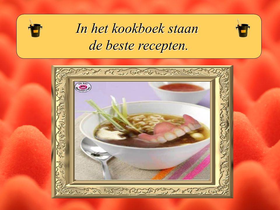 In het kookboek staan de beste recepten.