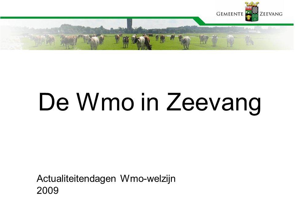 De Wmo in Zeevang Actualiteitendagen Wmo-welzijn 2009