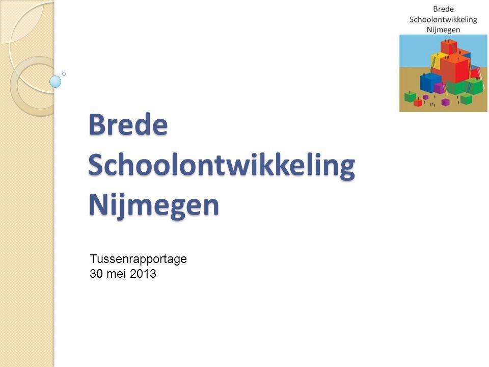 Brede Schoolontwikkeling Nijmegen Tussenrapportage 30 mei 2013
