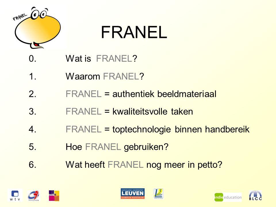FRANEL 0.Wat is FRANEL. 1.Waarom FRANEL.