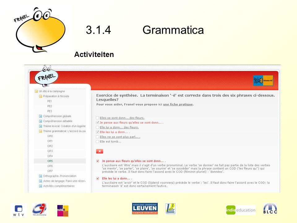 3.1.4Grammatica Activiteiten