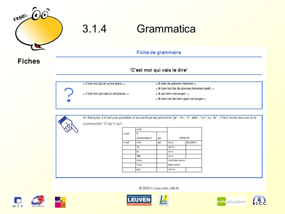 3.1.4Grammatica Fiches