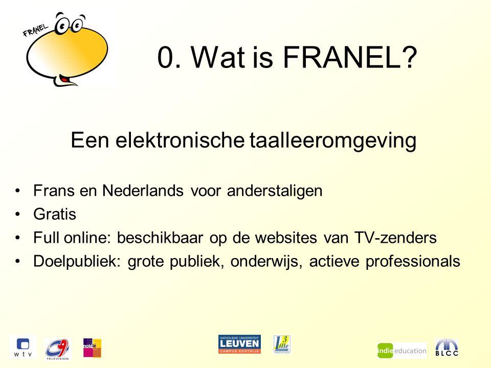 AAN DE SLAG ! Afspraak op www.wtv.be/franelwww.wtv.be/franel