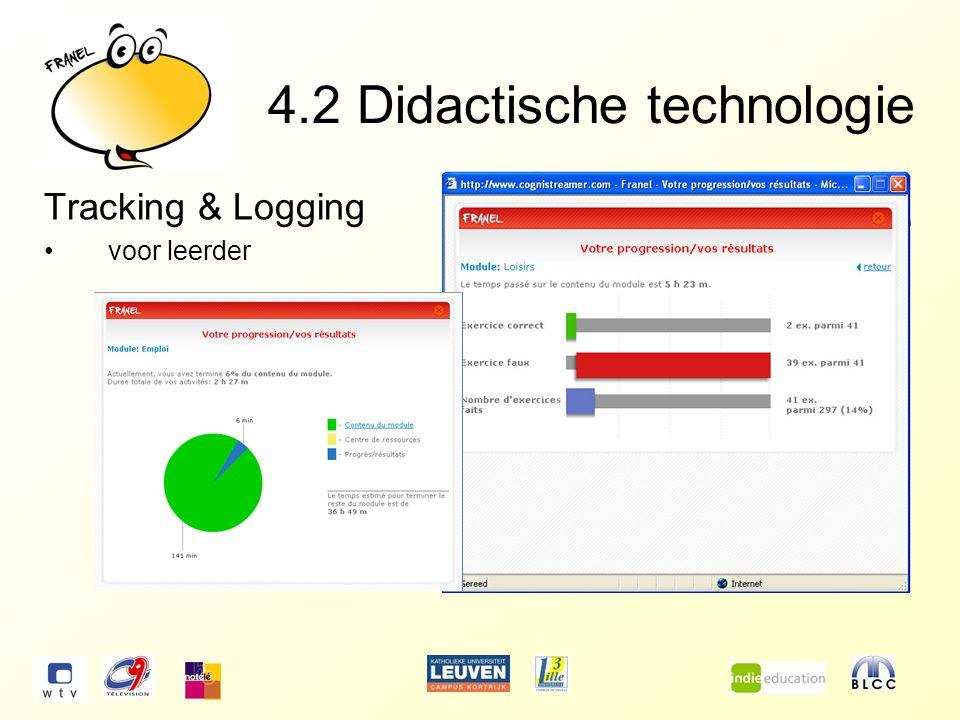 4.2Didactische technologie Tracking & Logging voor leerder