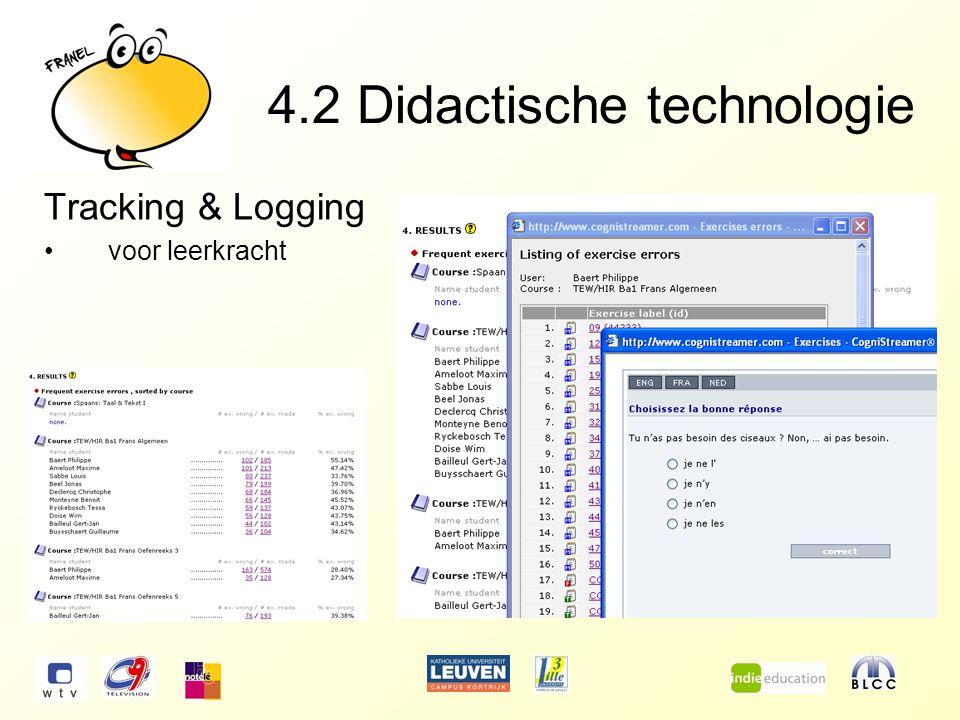 4.2Didactische technologie Tracking & Logging voor leerkracht