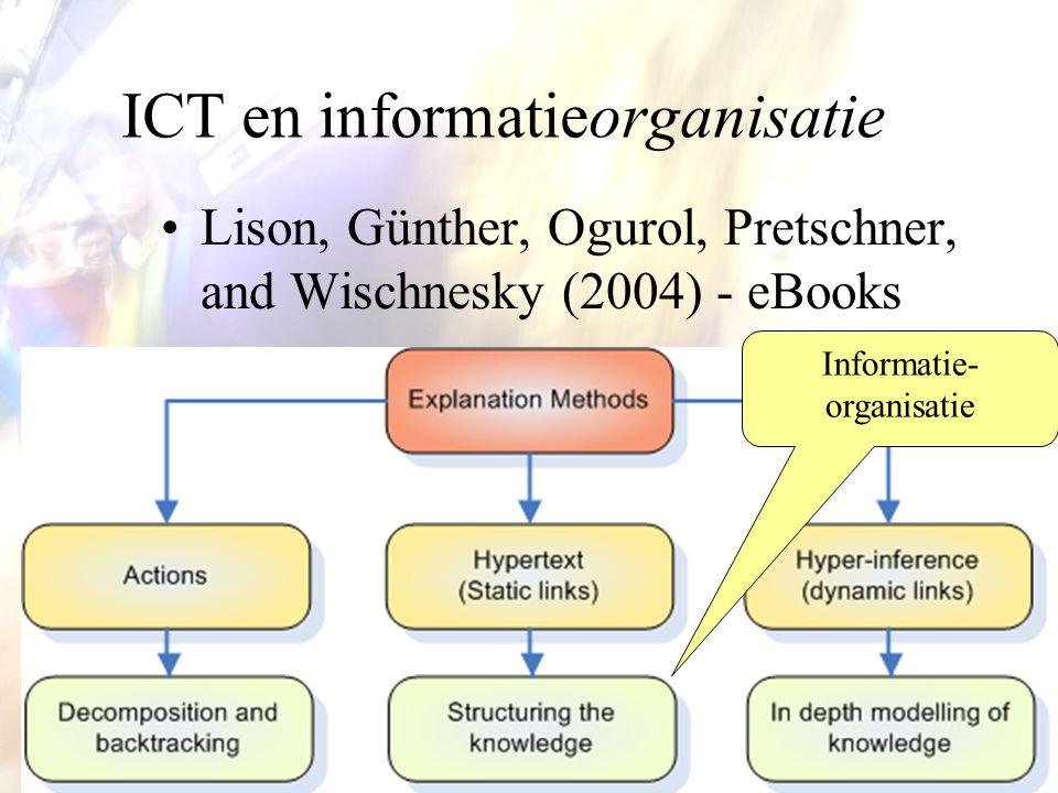 21 ICT en informatieorganisatie Lison, Günther, Ogurol, Pretschner, and Wischnesky (2004) - eBooks Informatie- organisatie