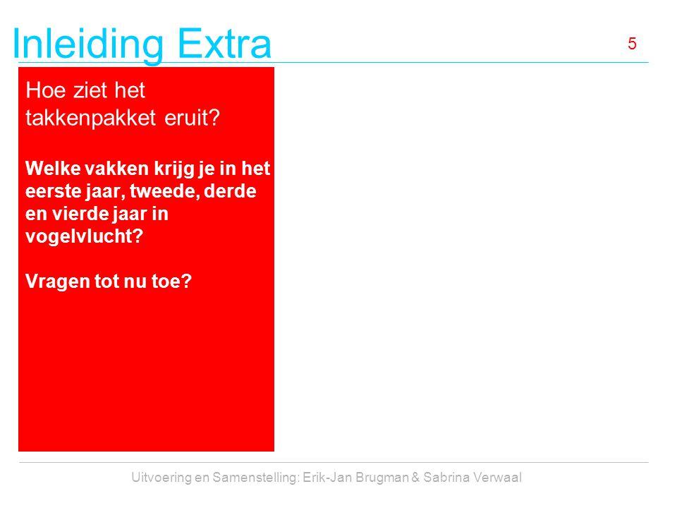 Inleiding Extra Uitvoering en Samenstelling: Erik-Jan Brugman & Sabrina Verwaal 5 Hoe ziet het takkenpakket eruit? Welke vakken krijg je in het eerste