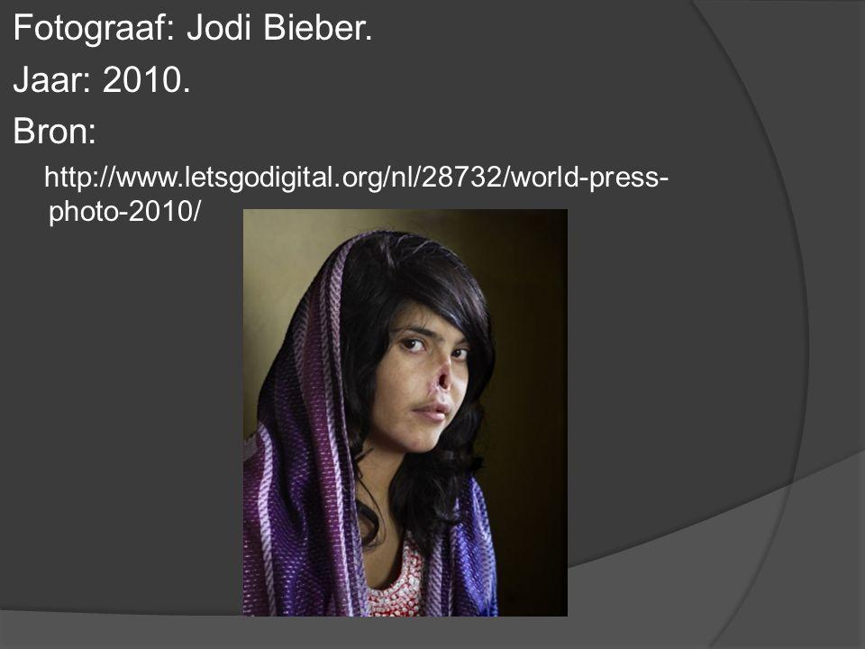 Fotograaf: Jodi Bieber. Jaar: 2010.