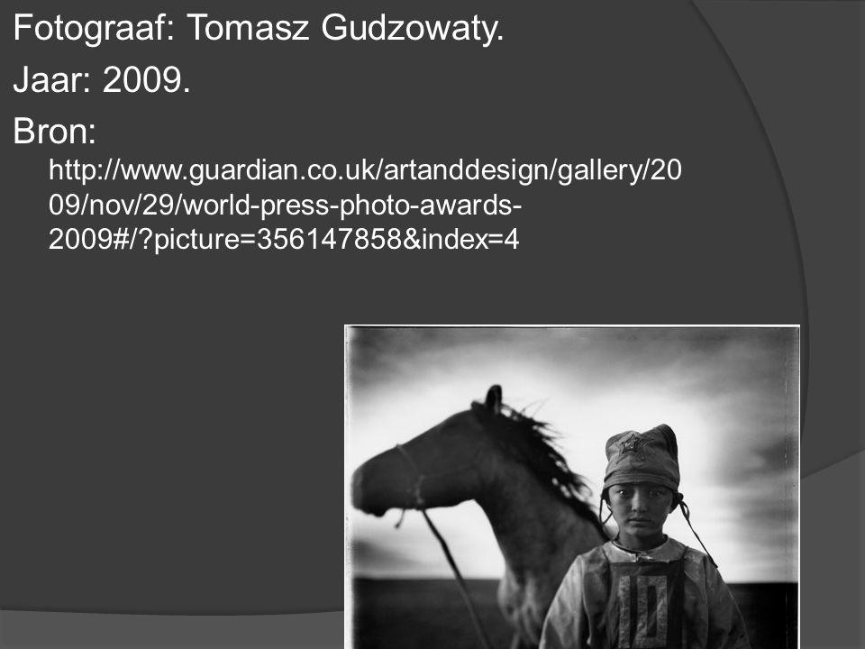 Fotograaf: Tomasz Gudzowaty. Jaar: 2009.