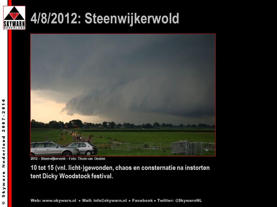 © S k y w a r n N e d e r l a n d 2 0 0 7 – 2 0 1 4 Dit kan vragen oproepen: Is zo'n groot evenement wel volledig te beschermen tegen (de gevolgen van) extreem weer.