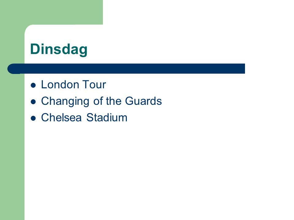 Dinsdag London Tour Changing of the Guards Chelsea Stadium