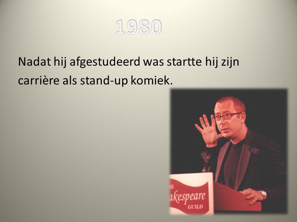 Nadat hij afgestudeerd was startte hij zijn carrière als stand-up komiek.