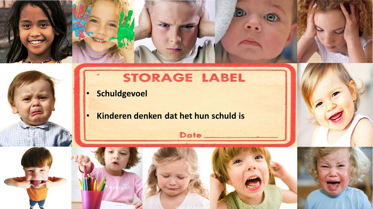 Schuldgevoel Kinderen denken dat het hun schuld is