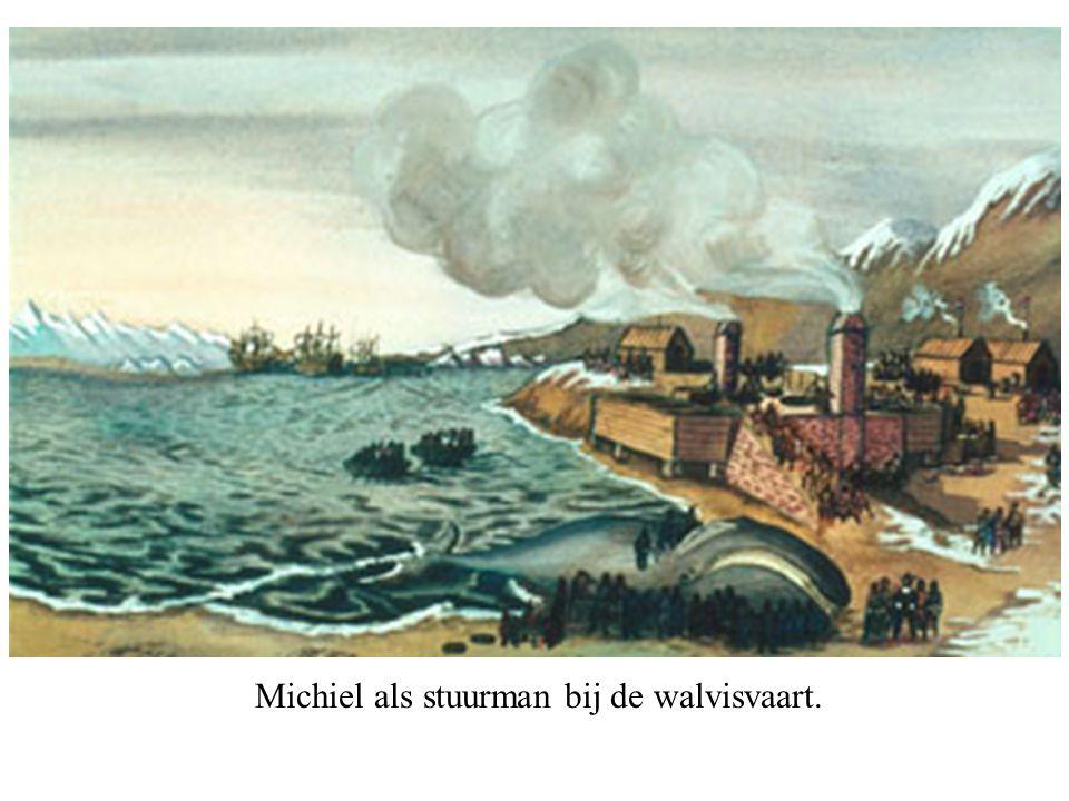 Michiel als stuurman bij de walvisvaart.