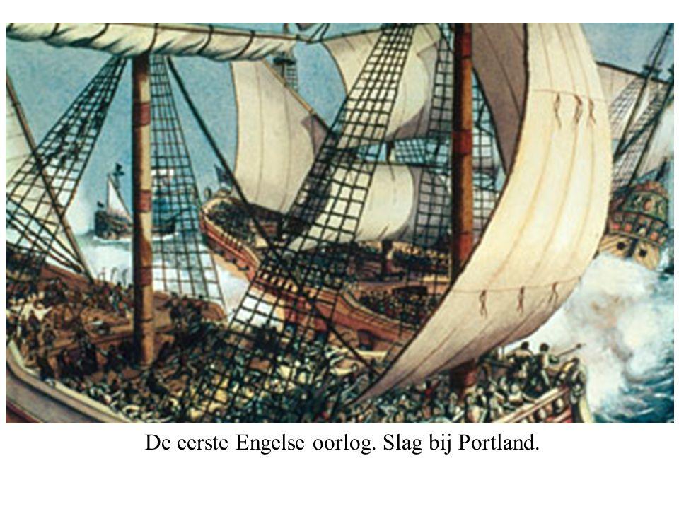 De eerste Engelse oorlog. Slag bij Portland.