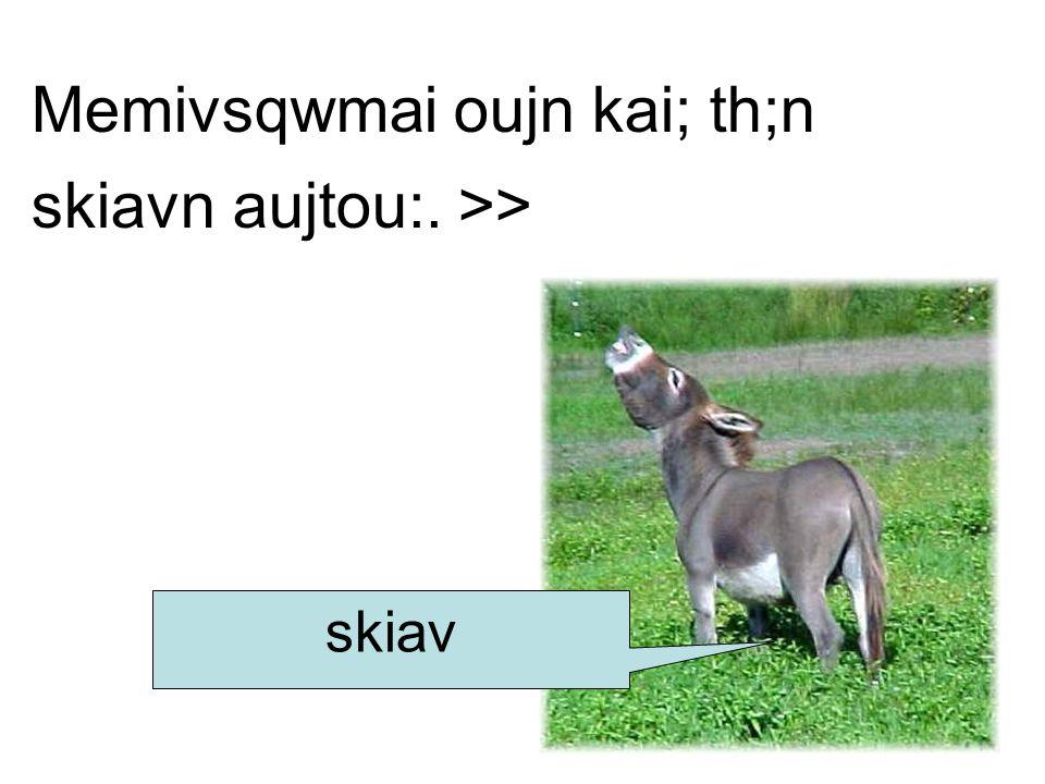 Memivsqwmai oujn kai; th;n skiavn aujtou:. >> skiav
