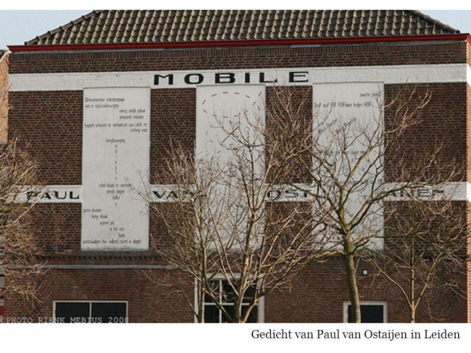 Gedicht van Paul van Ostaijen in Leiden