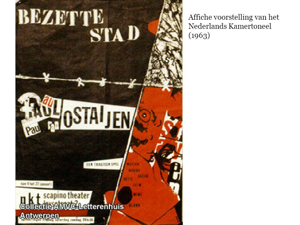 Affiche voorstelling van het Nederlands Kamertoneel (1963)