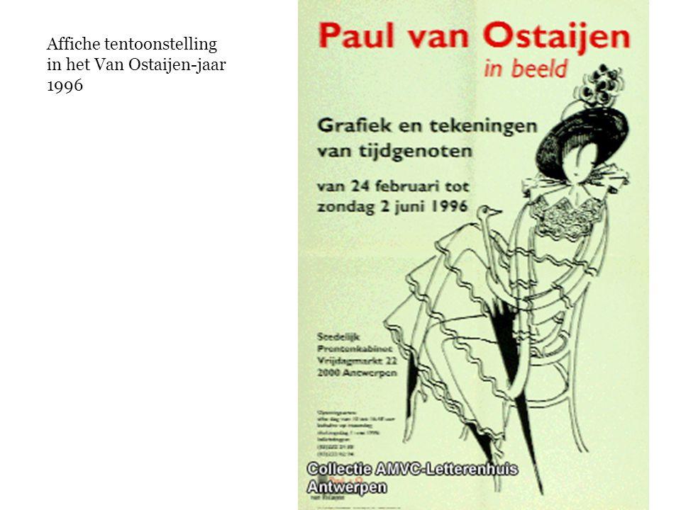 Affiche tentoonstelling in het Van Ostaijen-jaar 1996