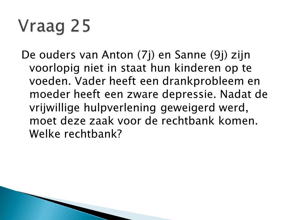 De ouders van Anton (7j) en Sanne (9j) zijn voorlopig niet in staat hun kinderen op te voeden.