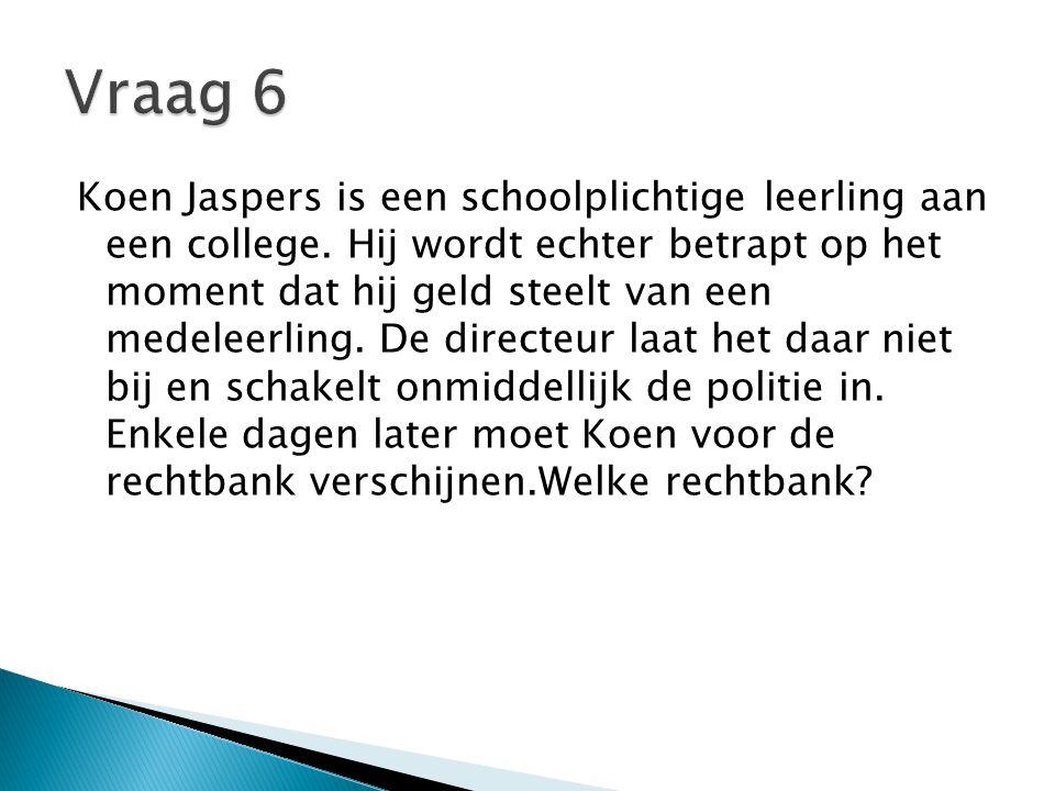 Koen Jaspers is een schoolplichtige leerling aan een college.