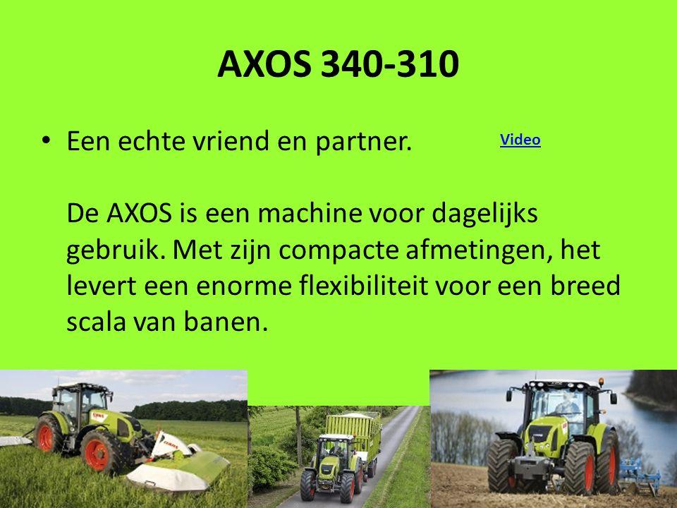 AXOS 340-310 Een echte vriend en partner. De AXOS is een machine voor dagelijks gebruik.