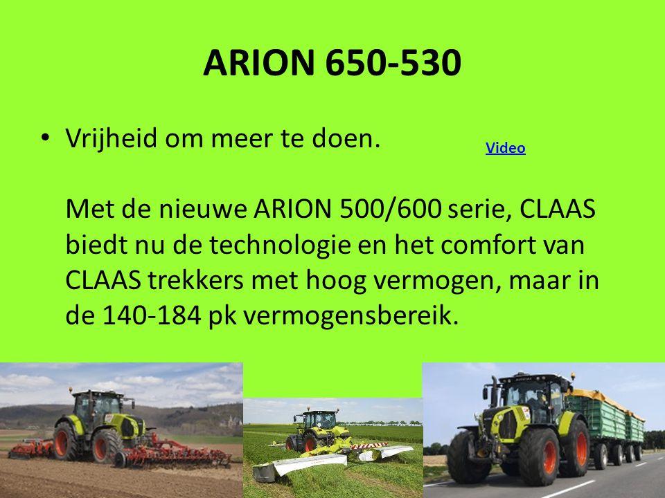 ARION 650-530 Vrijheid om meer te doen.