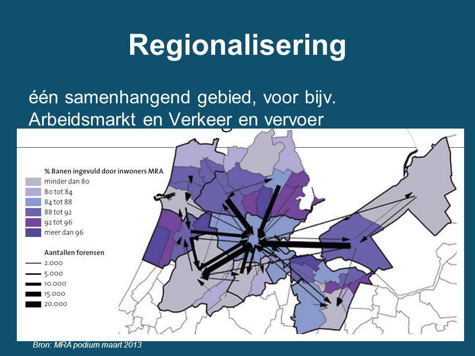 Regionalisering één samenhangend gebied, voor bijv.