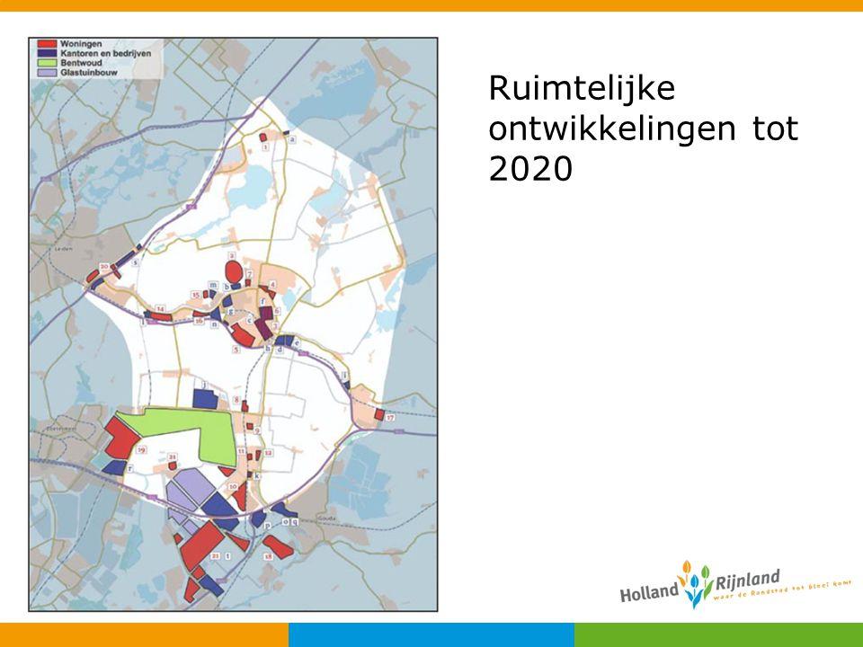 Ruimtelijke ontwikkelingen tot 2020
