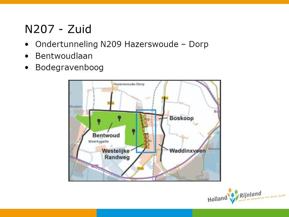 N207 - Zuid Ondertunneling N209 Hazerswoude – Dorp Bentwoudlaan Bodegravenboog