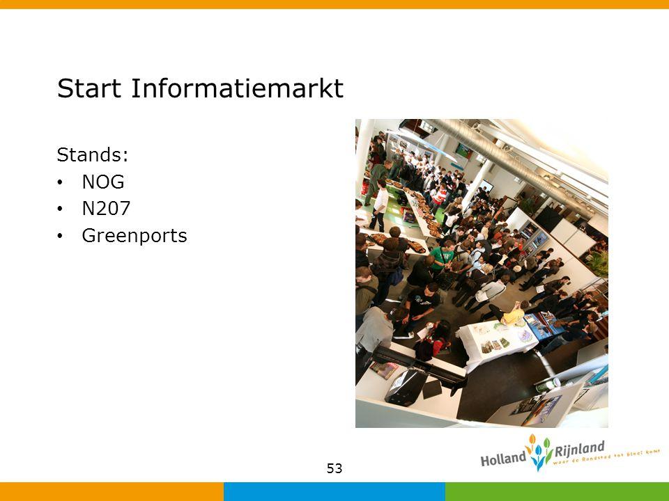 Start Informatiemarkt 53 Stands: NOG N207 Greenports
