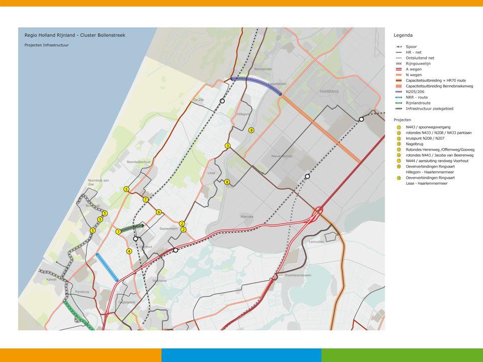 Maatregelen middengebied ProjectGeschatte investering Bijdrage RIF Knoopunt N443; Piet Gijzenbrug € 31-67 mln.