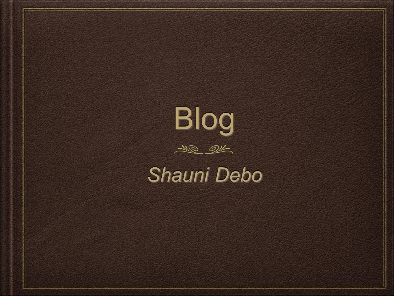 BlogBlog Shauni Debo