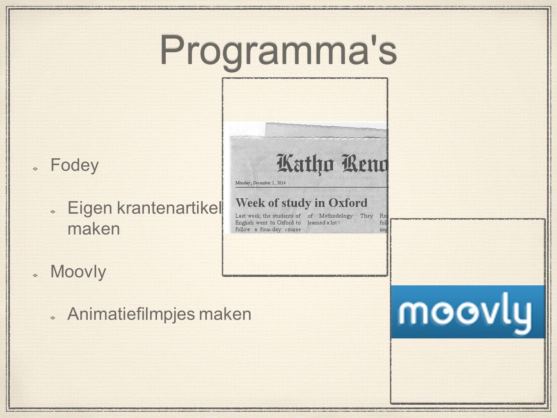 Programma s Fodey Eigen krantenartikel maken Moovly Animatiefilmpjes maken
