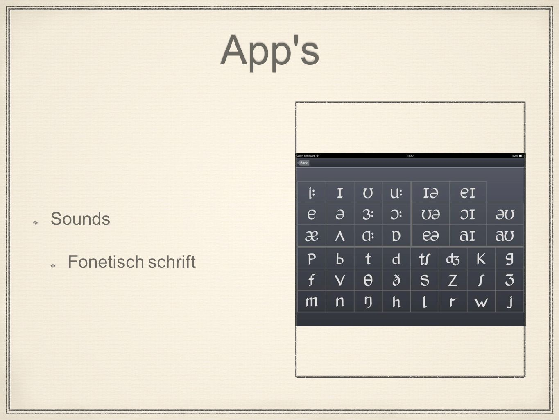 App s Sounds Fonetisch schrift