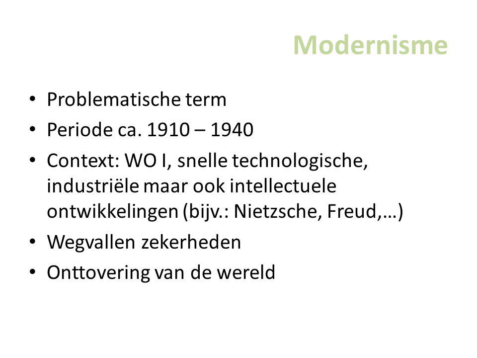 Modernisme Problematische term Periode ca.