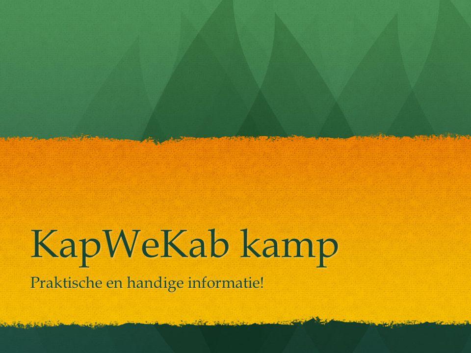 KapWeKab kamp Praktische en handige informatie!