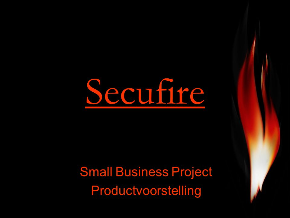 Secufire Small Business Project Productvoorstelling