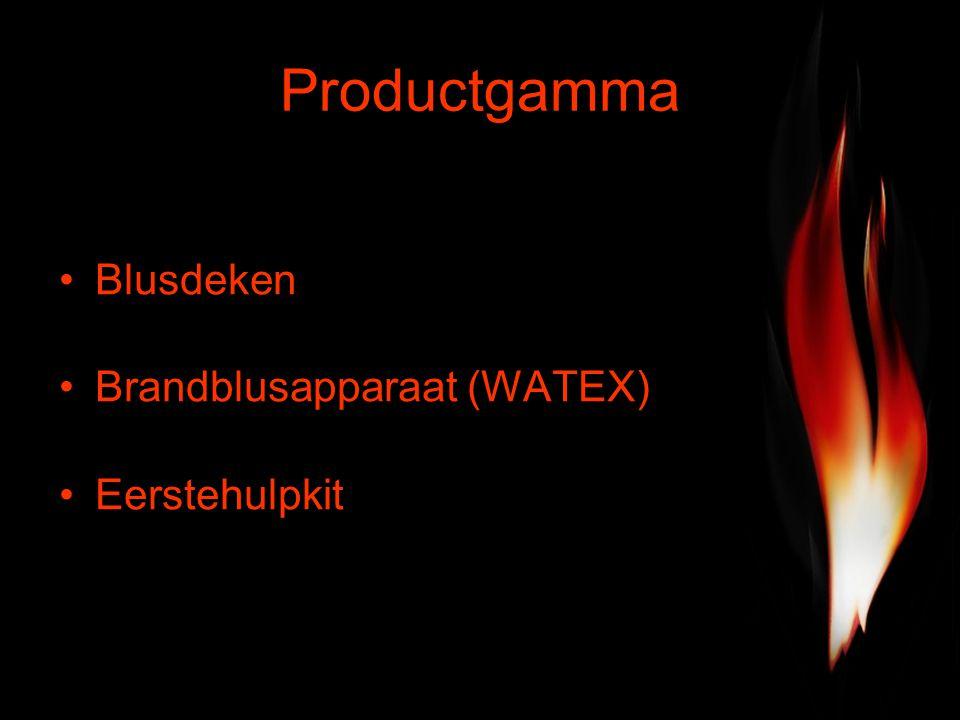 Productgamma Blusdeken Brandblusapparaat (WATEX) Eerstehulpkit