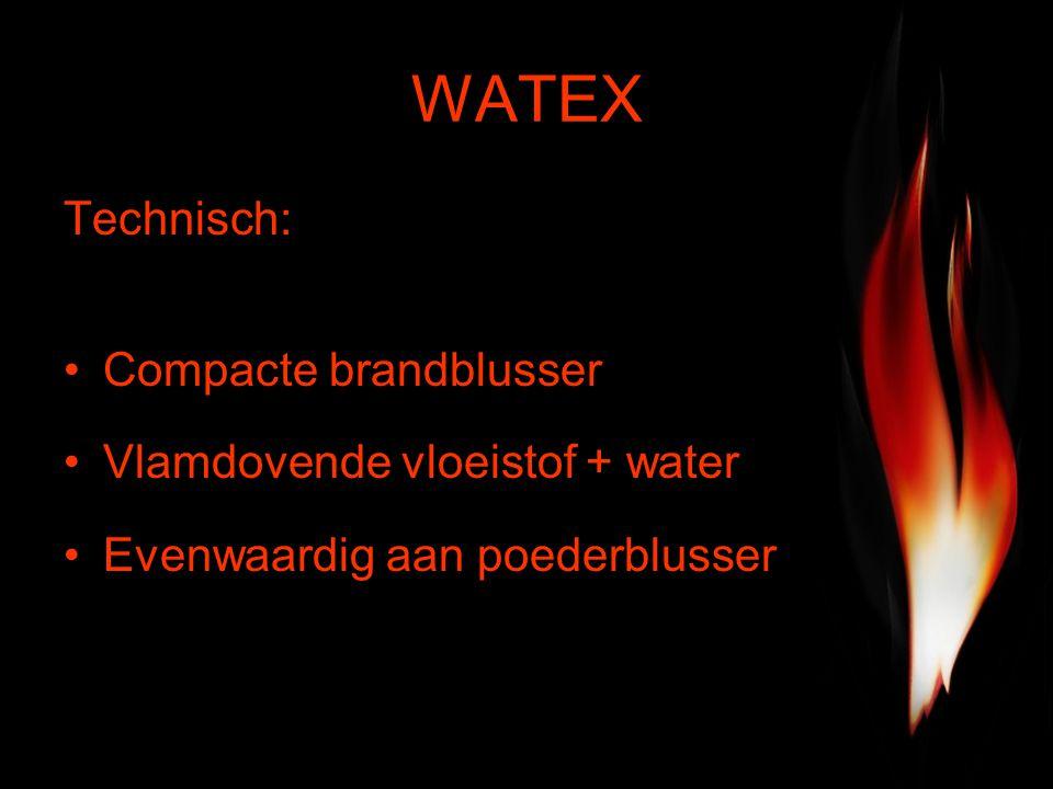 WATEX Technisch: Compacte brandblusser Vlamdovende vloeistof + water Evenwaardig aan poederblusser